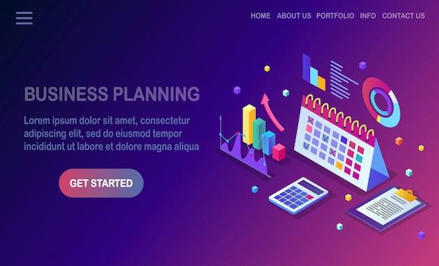 Bedrijfsplanning concept.