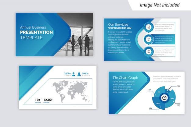 Bedrijfspresentatie ontwerpconcept met infographic elementen