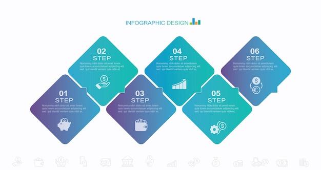 Bedrijfsproces infographic sjabloon vector illustratie grafisch ontwerp stock illustratie
