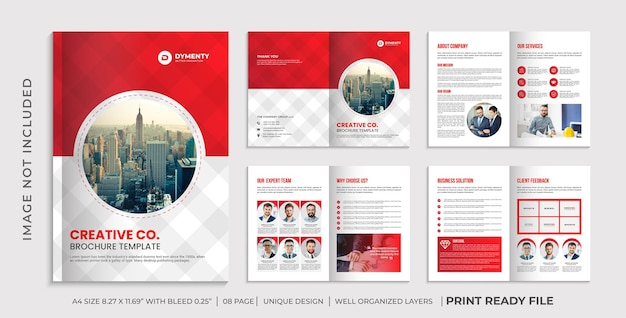 Bedrijfsprofiel brochure sjabloon, bedrijfsbrochure ontwerp