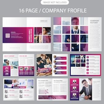 Bedrijfsprofiel brochure sjabloon