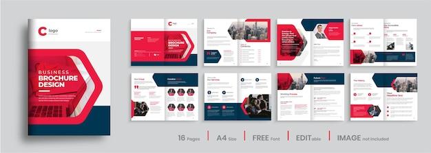 Bedrijfsprofiel brochure sjabloonontwerp