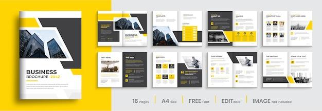 Bedrijfsprofiel brochureontwerp professionele zakelijke brochure sjabloonontwerp
