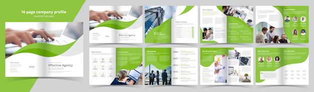 Bedrijfsprofiel van 16 pagina's