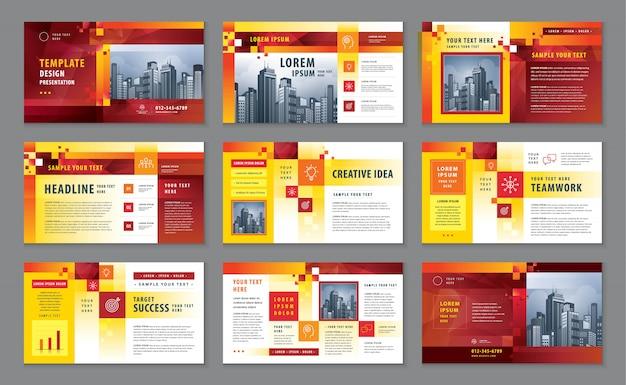 Bedrijfsprofiel, zakelijke presentatie catalogus ontwerpsjabloon