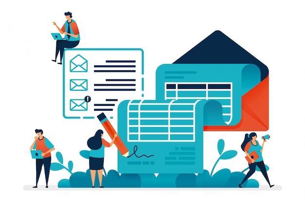 Bedrijfsresultaten en maandelijkse facturering, overeenkomsten voor financiële samenwerking.
