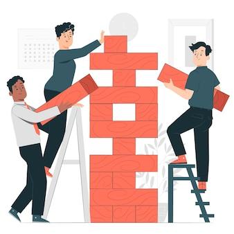 Bedrijfsrisico concept illustratie