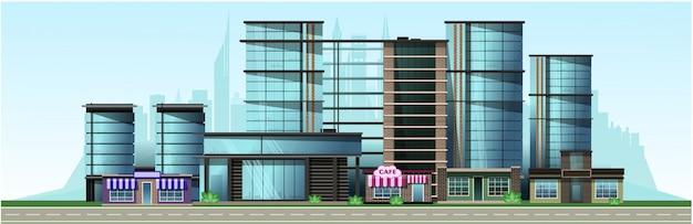 Bedrijfsstad met moderne huizen