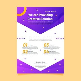 Bedrijfsstrategie creatieve presentatiesjabloon