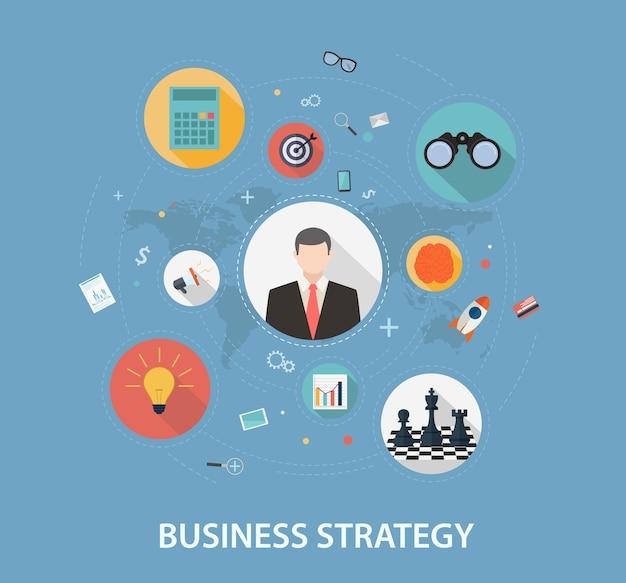 Bedrijfsstrategie op vlak stijlontwerp