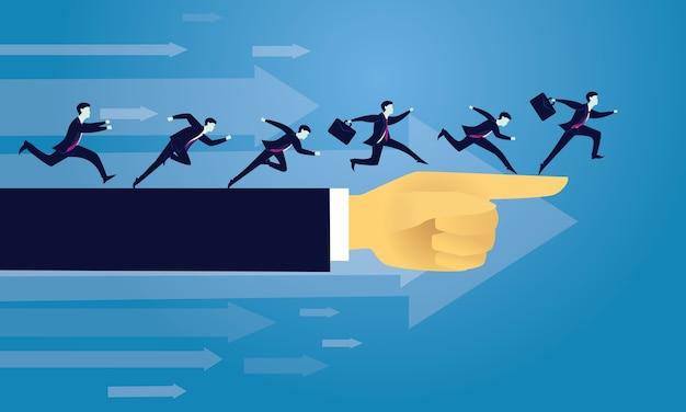 Bedrijfssucces die voorwaarts richtingsconcept bewegen