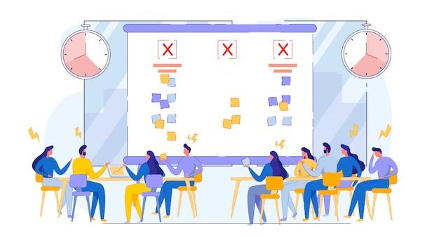 Bedrijfsvergadering. los problemenpagina voor site op.