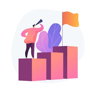 Bedrijfsvisie, voorspelling en prognose. monitoring van carrièrekansen. baan, perspectief zoeken, strategieplanning. leiderschap en motivatie.
