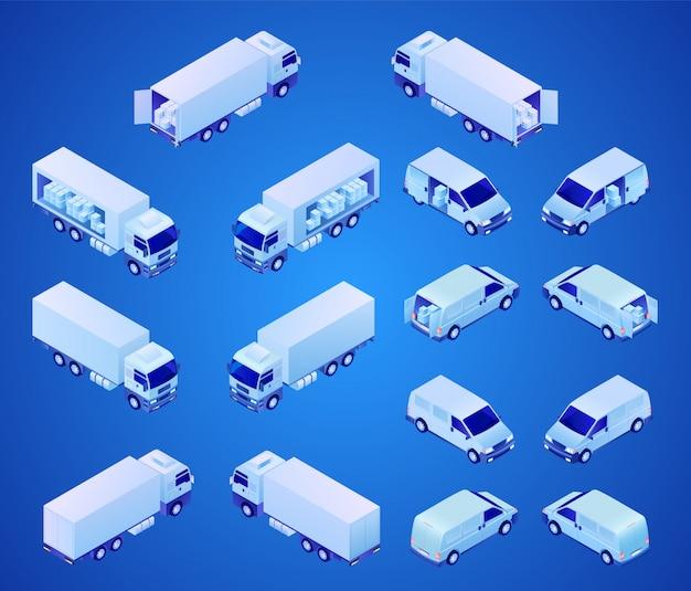 Bedrijfsvoertuigen voor transport isometrisch