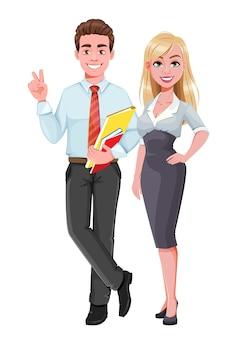 Bedrijfsvrouw en bedrijfsmens