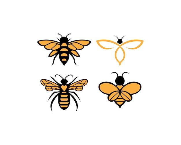 Bee dier pictogram. honing vliegende bij.