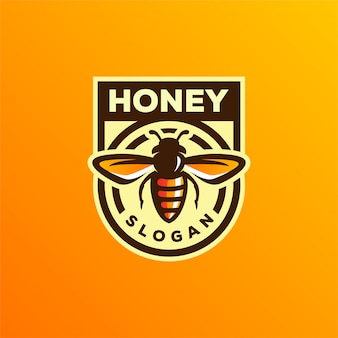 Bee honing logo ontwerp