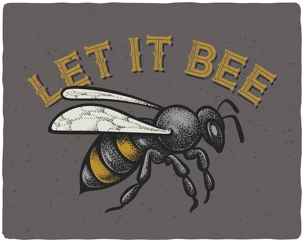 Bee illustratie