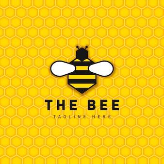Bee logo ontwerpsjabloon