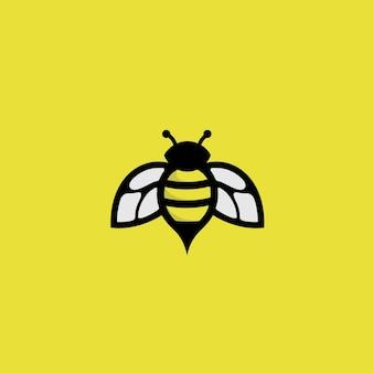 Bee-logo op geel