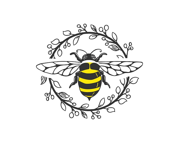 Bee logo sjabloon
