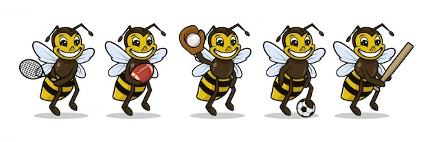Bee sport mascotte