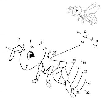 Bee voor getekend