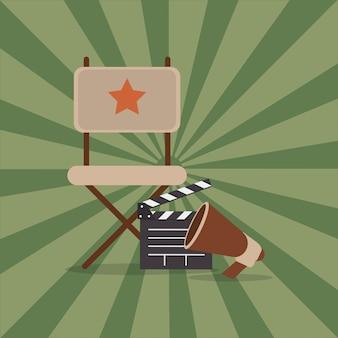Beeld van cinematografie verwante pictogrammen