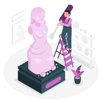 Beeldhouwen concept illustratie