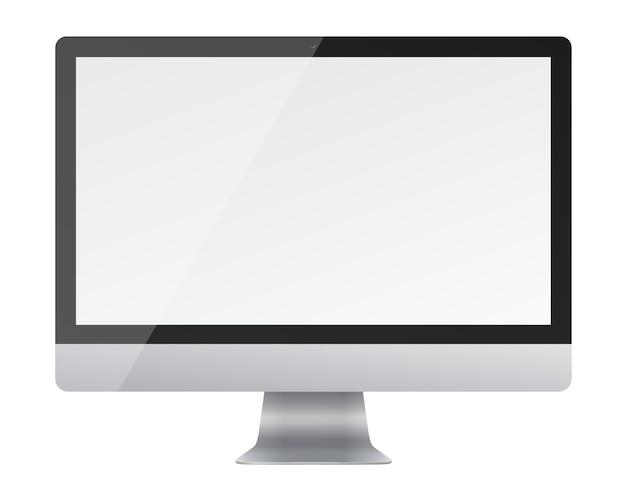 Beeldscherm van de computer met een leeg scherm geïsoleerd