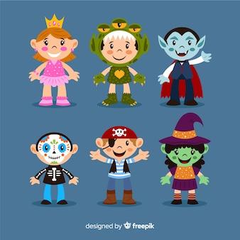 Beeldverhaalkostuums voor kinderen op halloween