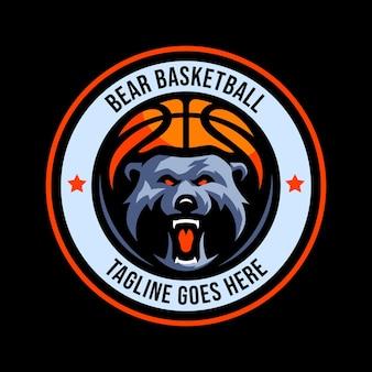 Beer basketbal esport mascotte cartoon logo vector sjabloon
