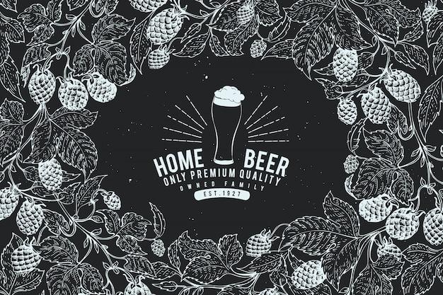 Beer hop ontwerpsjabloon.