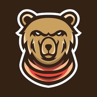 Beer mascotte logo ontwerp vectorillustratie