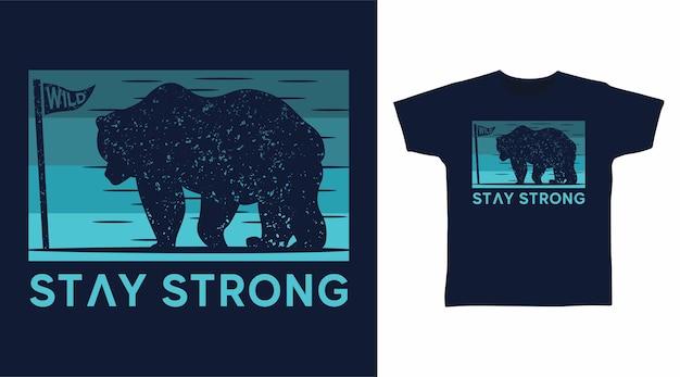 Beer silhouet t-shirt ontwerp