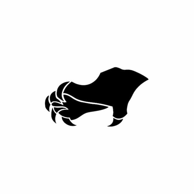 Beest klauw symbool logo tattoo design stencil vectorillustratie