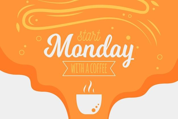 Begin maandag met een koffieachtergrond