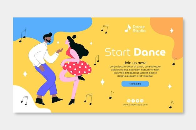 Begin met dansen sjabloon voor spandoek