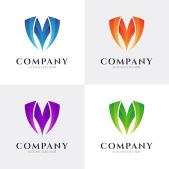 Beginletter m logo