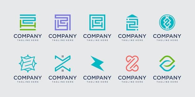 Beginletter z logo pictogram decorontwerp voor bedrijf van mode bouwtechnologie