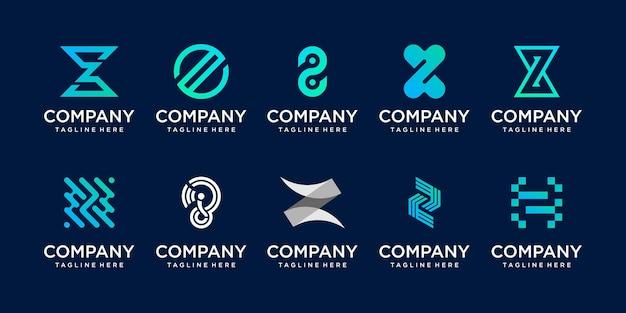 Beginletter z logo pictogram decorontwerp voor bedrijf van mode digitale technologie