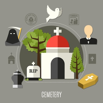 Begraafplaats set