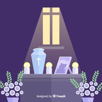 Begrafenis ceremonie achtergrond