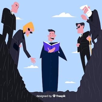 Begrafenis ceremonie