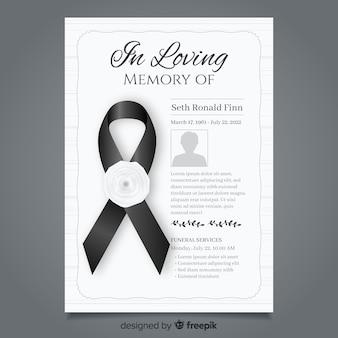Begrafenis kaartsjabloon