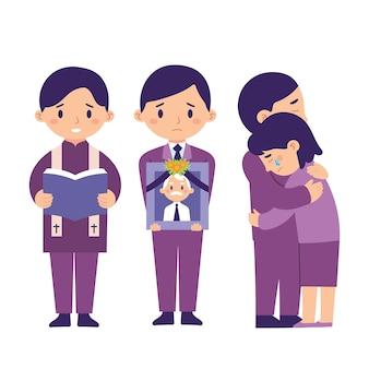 Begrafenisceremonie en rust in vredesfamilie