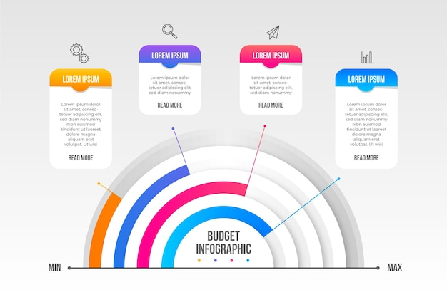 Begroting infographic concept