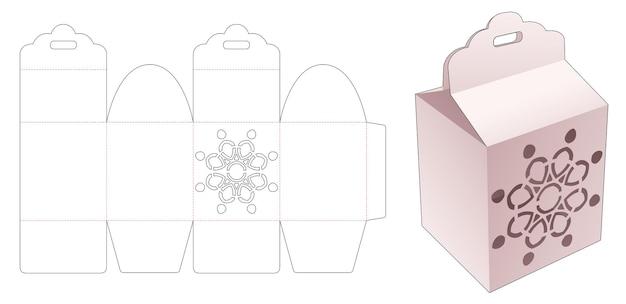 Behandel de verpakking met een luxe stencil gestanst sjabloon