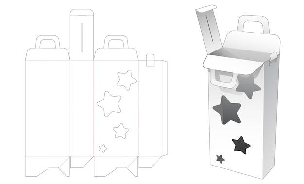 Behandel hoge verpakkingen met een stervormig gestanst sjabloon