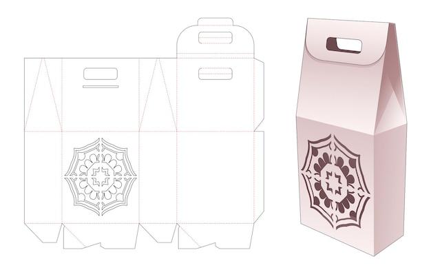 Behandel kartonnen verpakkingen met gestencilde mandala gestanste sjabloon